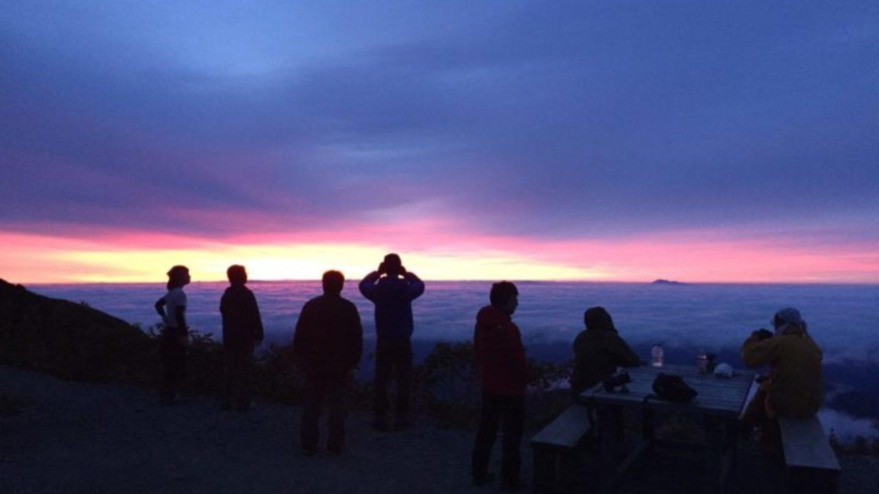 五竜岳からの朝日