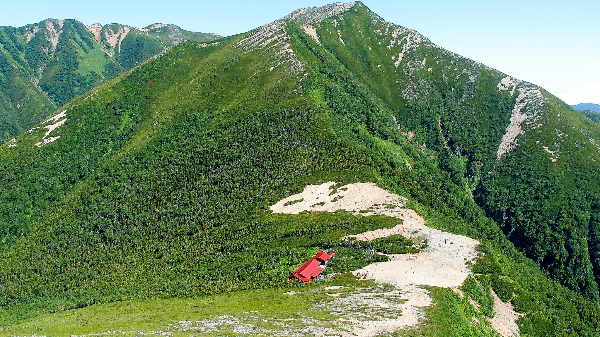 常念岳・常念岳から常念小屋、横通岳、大天井岳