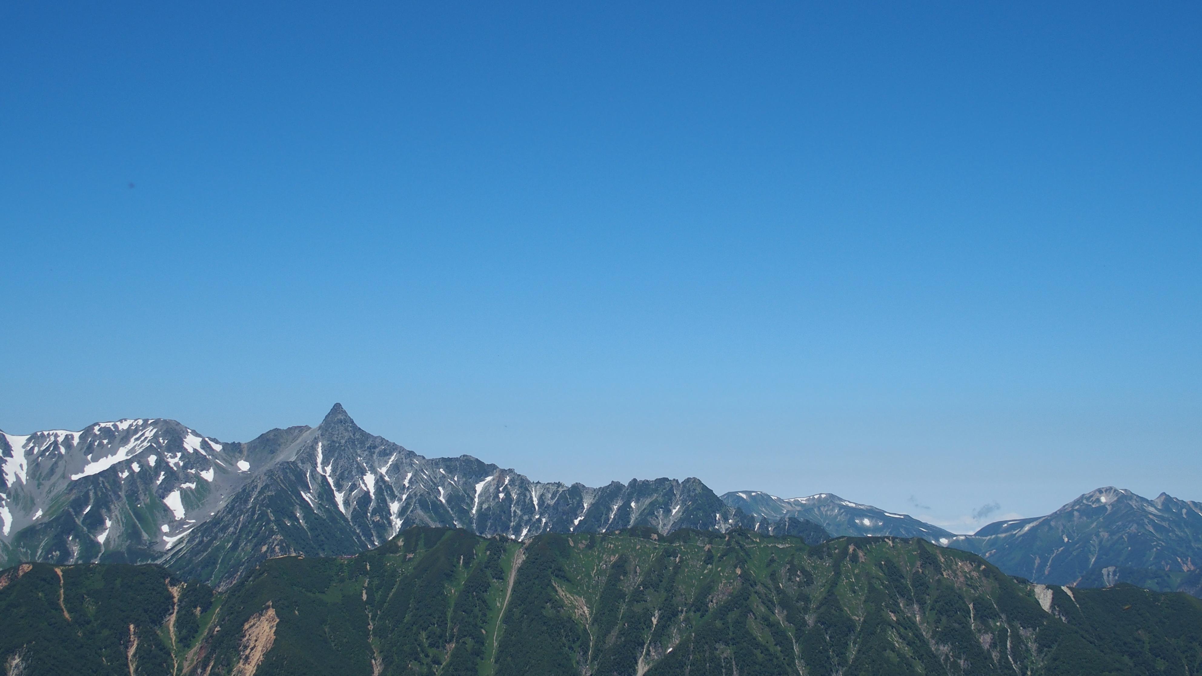常念岳・常念岳山頂からの槍ヶ岳