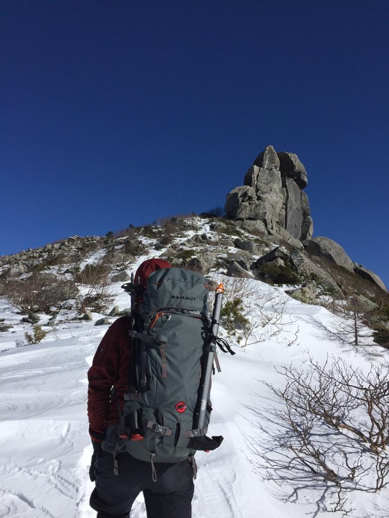 金峰山・五丈岩を振り返って