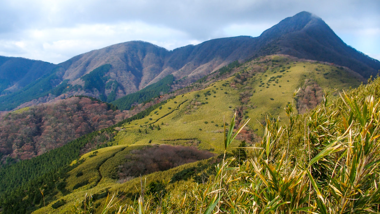 金時山・明神ヶ岳から金時山へ・綺麗な稜線見えました