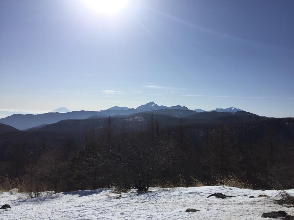 入笠山・入笠山からの富士山と南アルプス