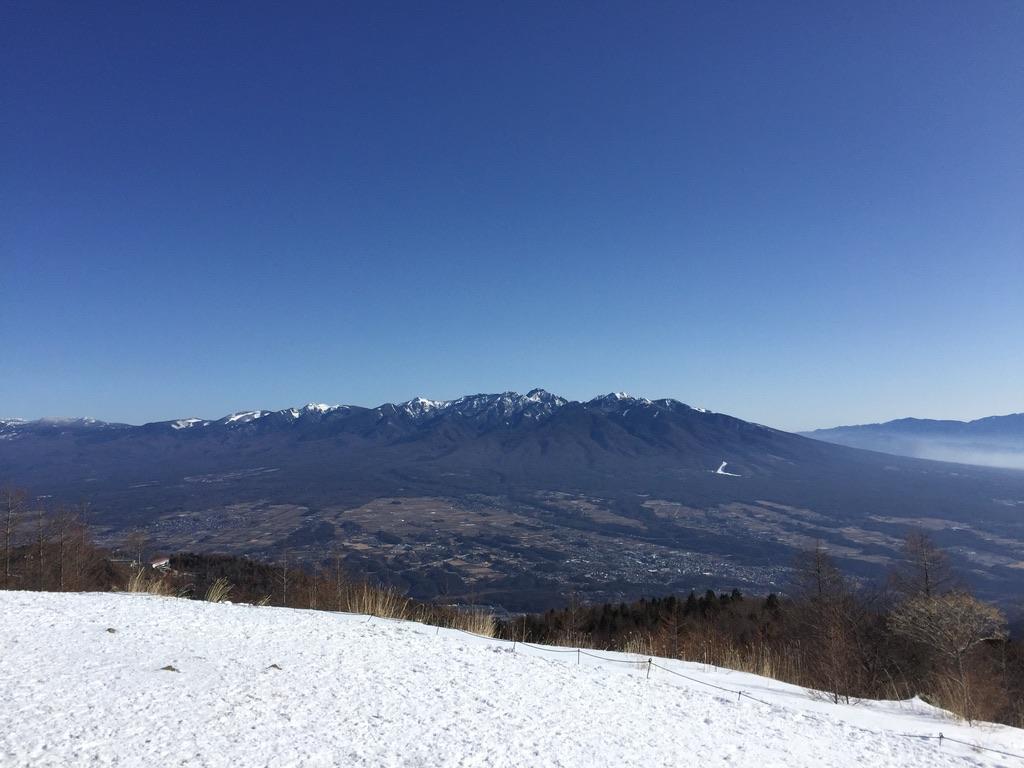 入笠山・入笠山からの八ヶ岳