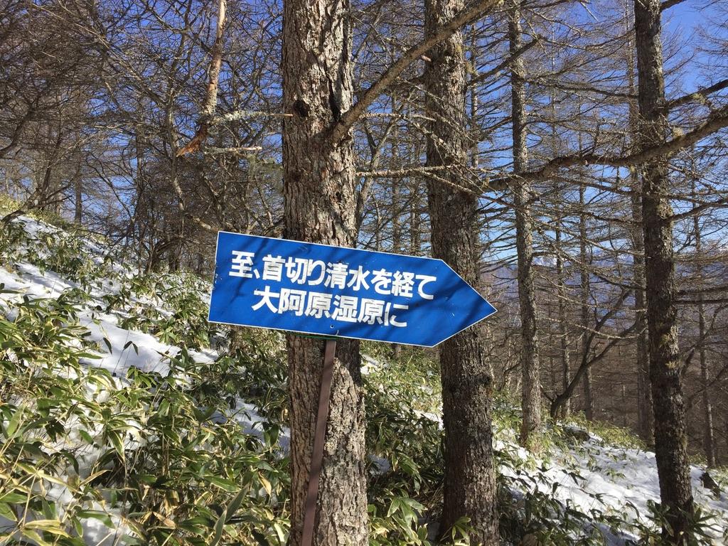 入笠山・道迷い中。看板あったのね。