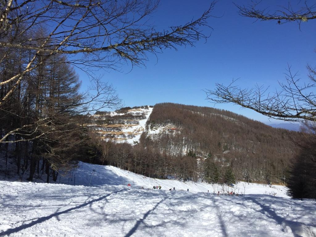 入笠山・入笠山スキー場2。戻ってこれた。
