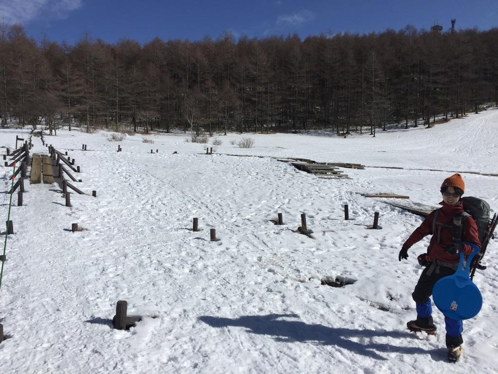 入笠山・入笠湿原と陽気な相棒