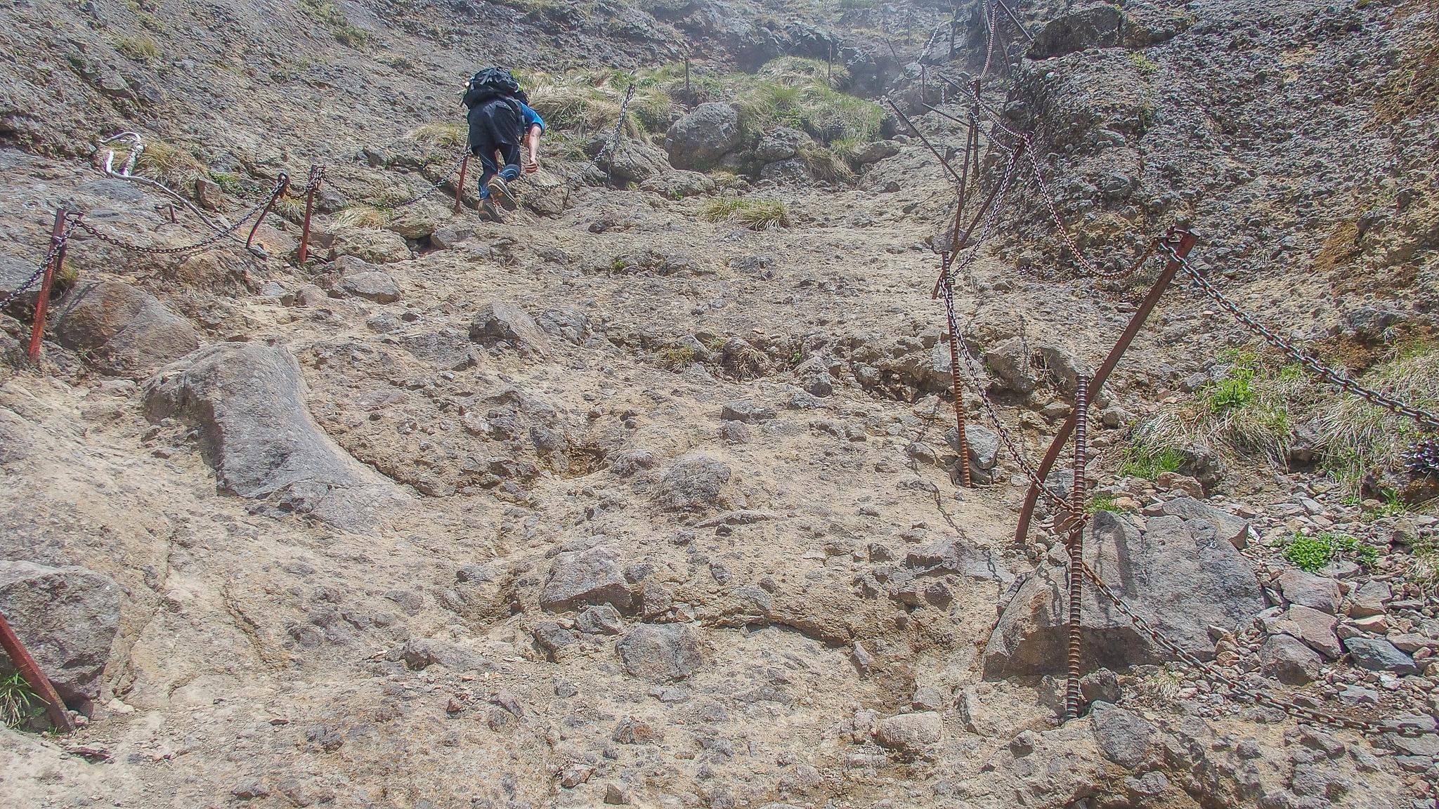 八ヶ岳(赤岳・横岳・硫黄岳)・横岳、岩場の登り