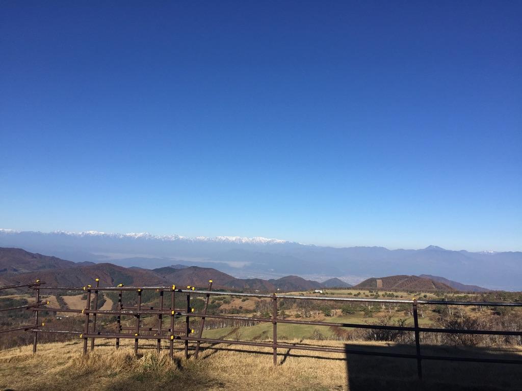 四阿山・根子岳展望台から見る北アルプス