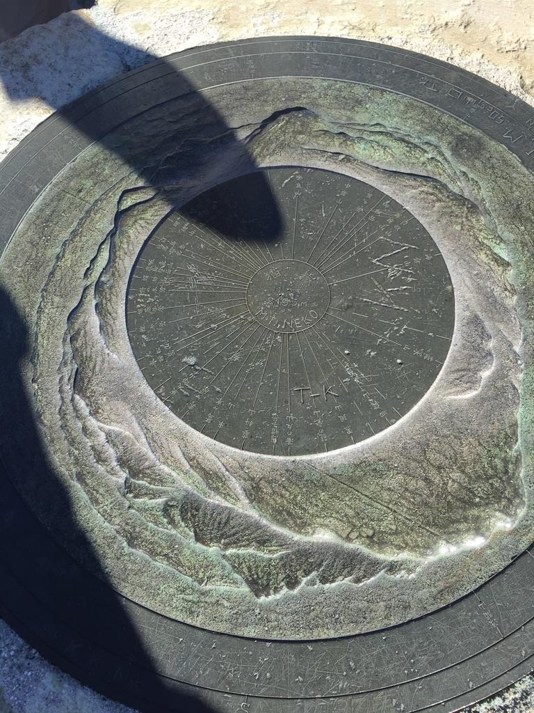 四阿山・根子岳山頂の方位盤