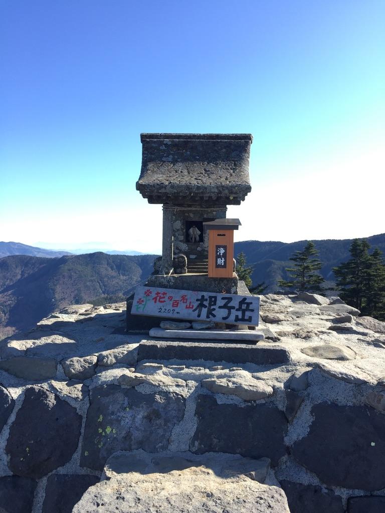 四阿山・根子岳山頂。花の百名山