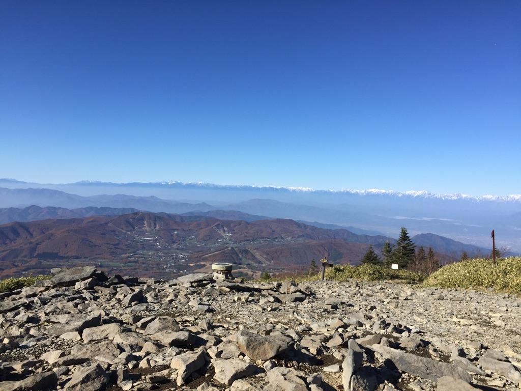 四阿山・根子岳山頂からの景色