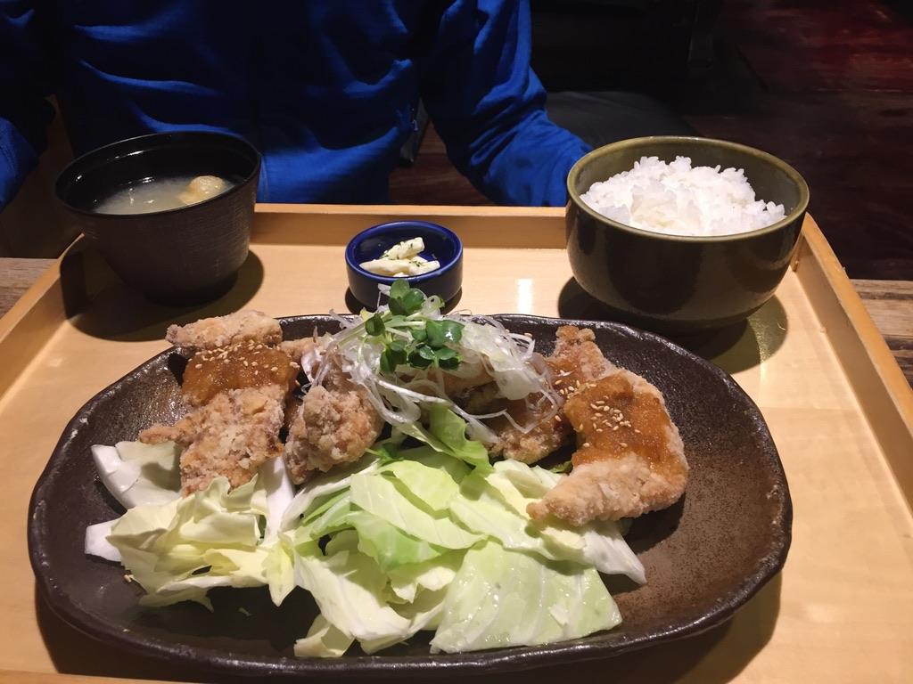上田からあげセンターのからあげ定食