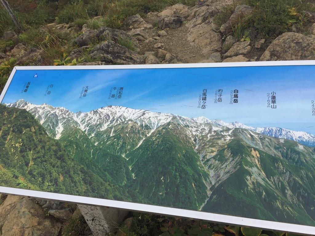地蔵ノ頭から見えるはずの白馬岳