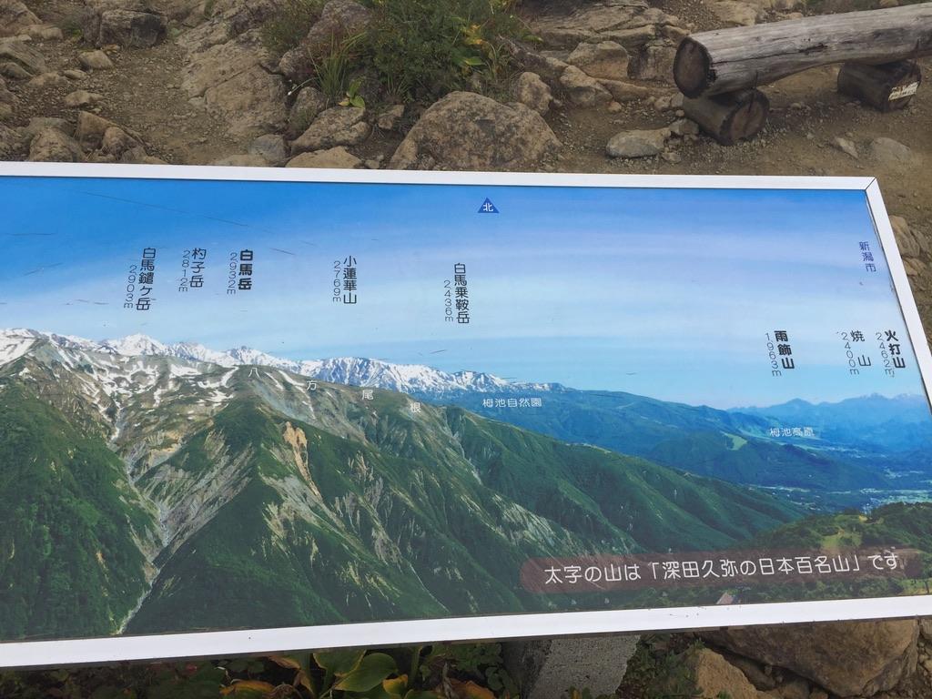 地蔵ノ頭から見えるはずの白馬岳2