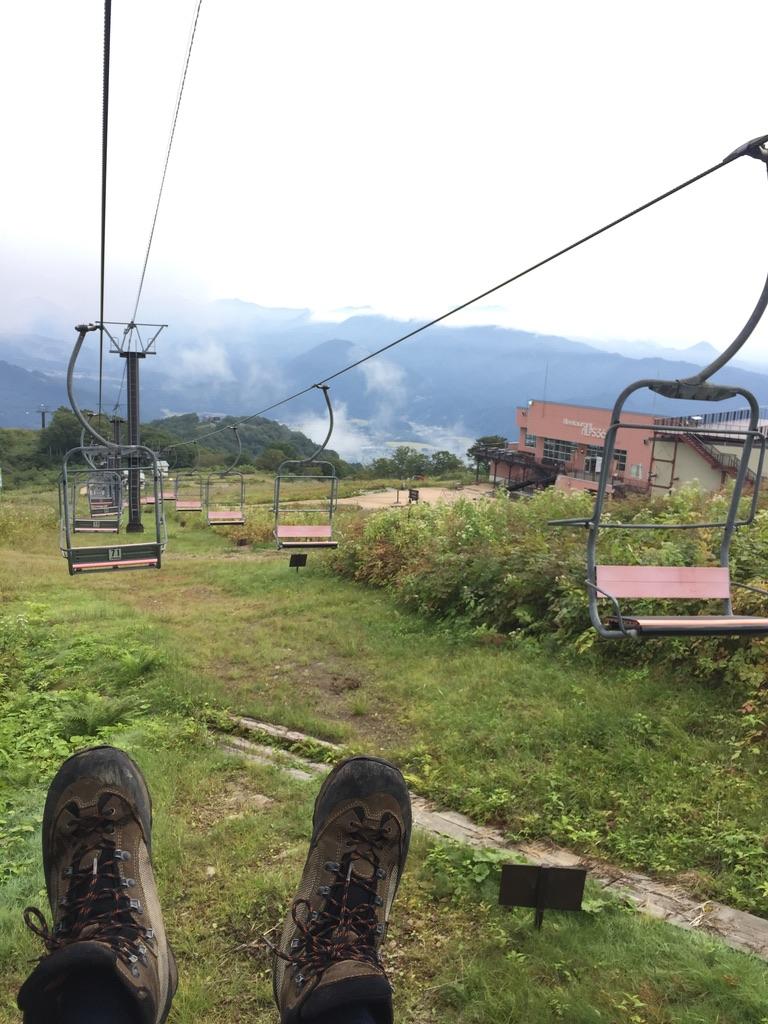 五竜岳・地蔵ノ頭からリフトに乗ってアルプス平へ