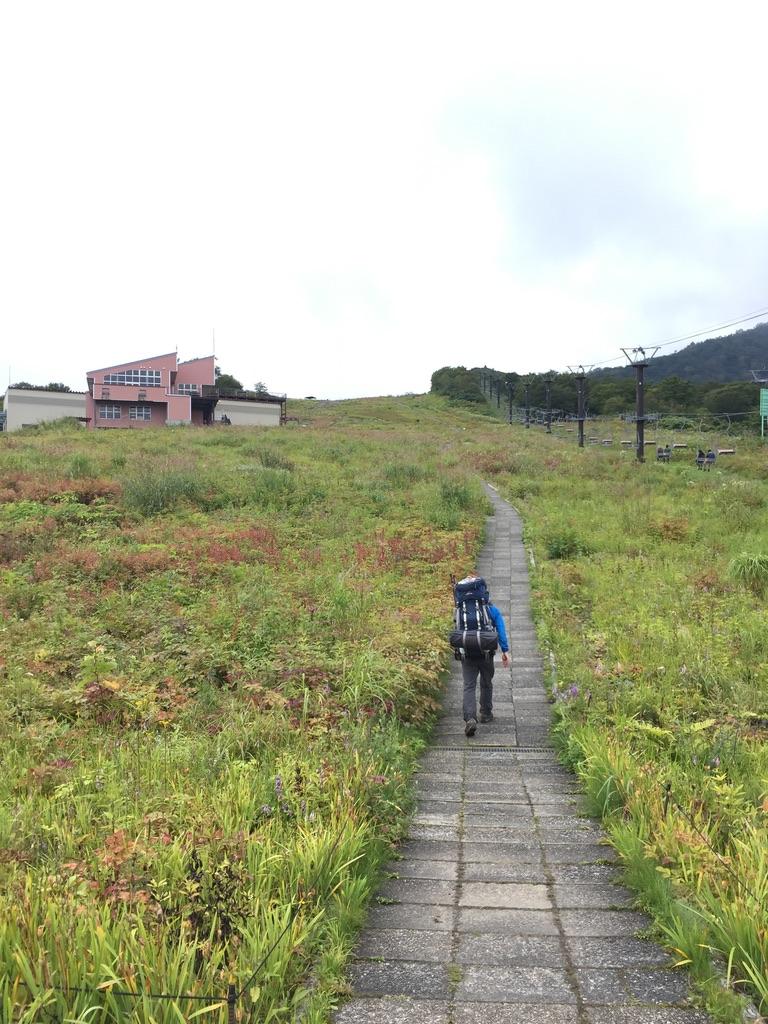 五竜岳・アルプス平に向かう最後の登り