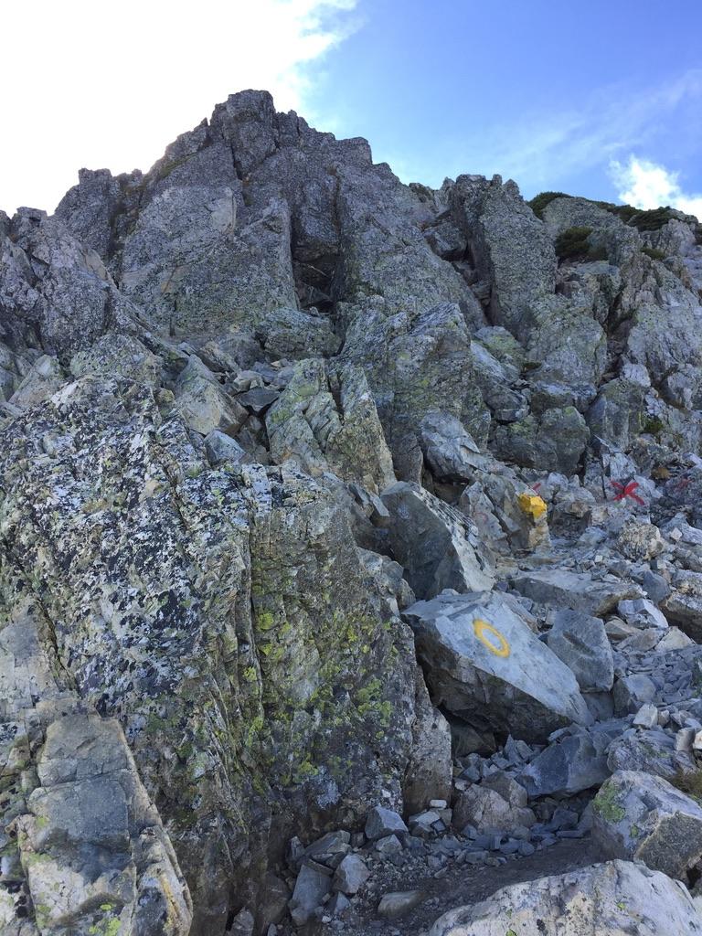 五竜岳にいざ行かん5・岩登り
