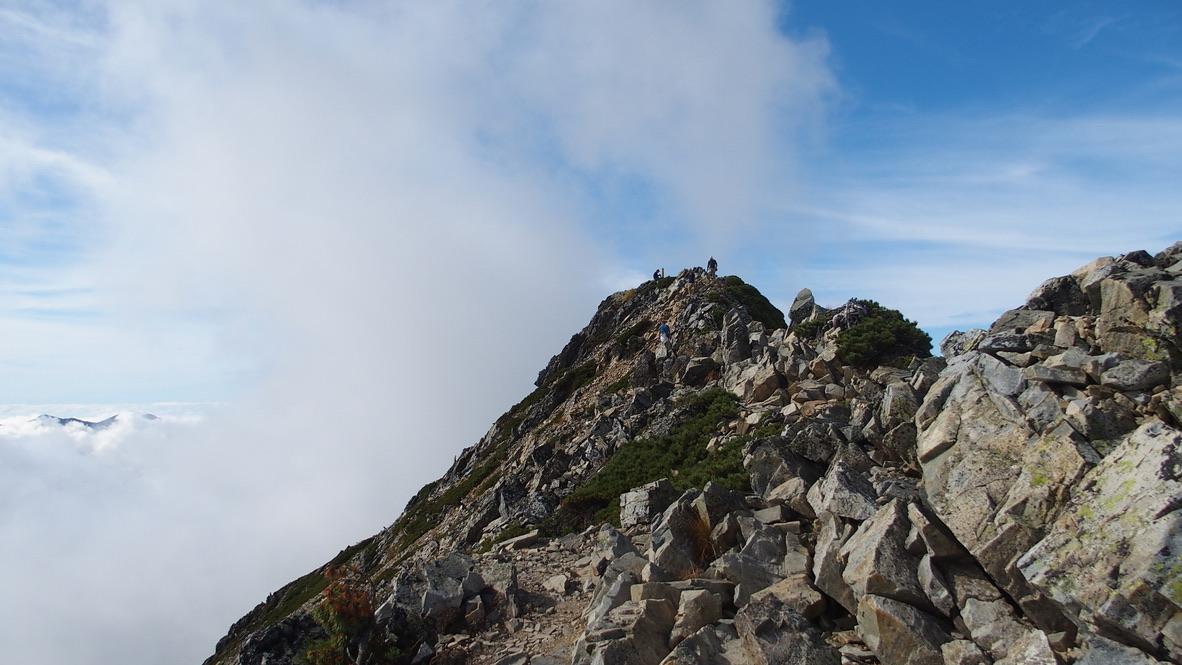 五竜岳にいざ行かん7・山頂が見えた!