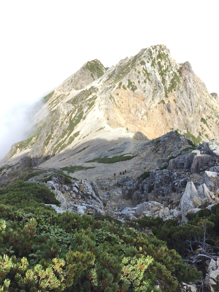 五竜岳山頂から五竜山荘へ2
