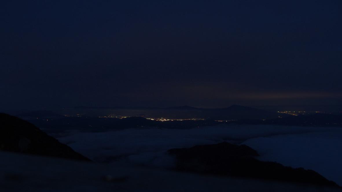 五竜山荘から見える街明かり