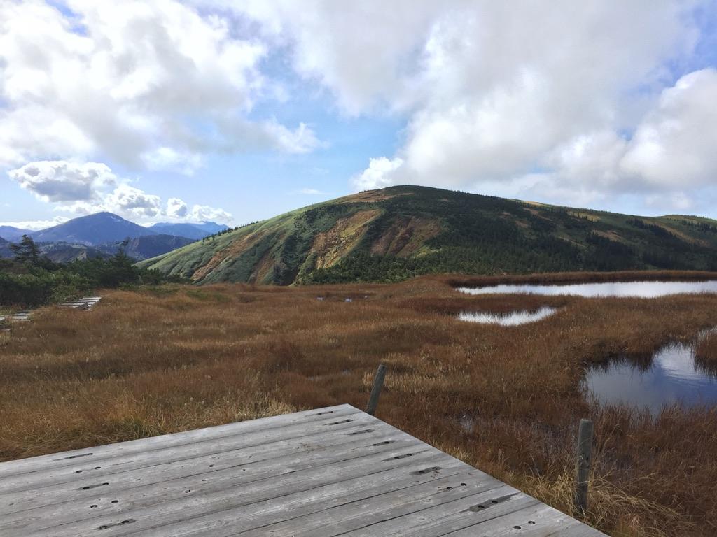 池ノ岳山頂からの平ヶ岳