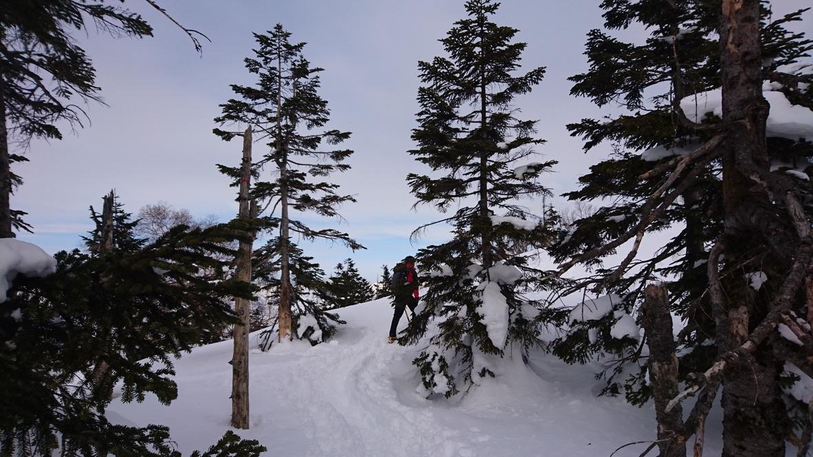 武尊山・川場スキー場から剣ヶ峰山に至る道