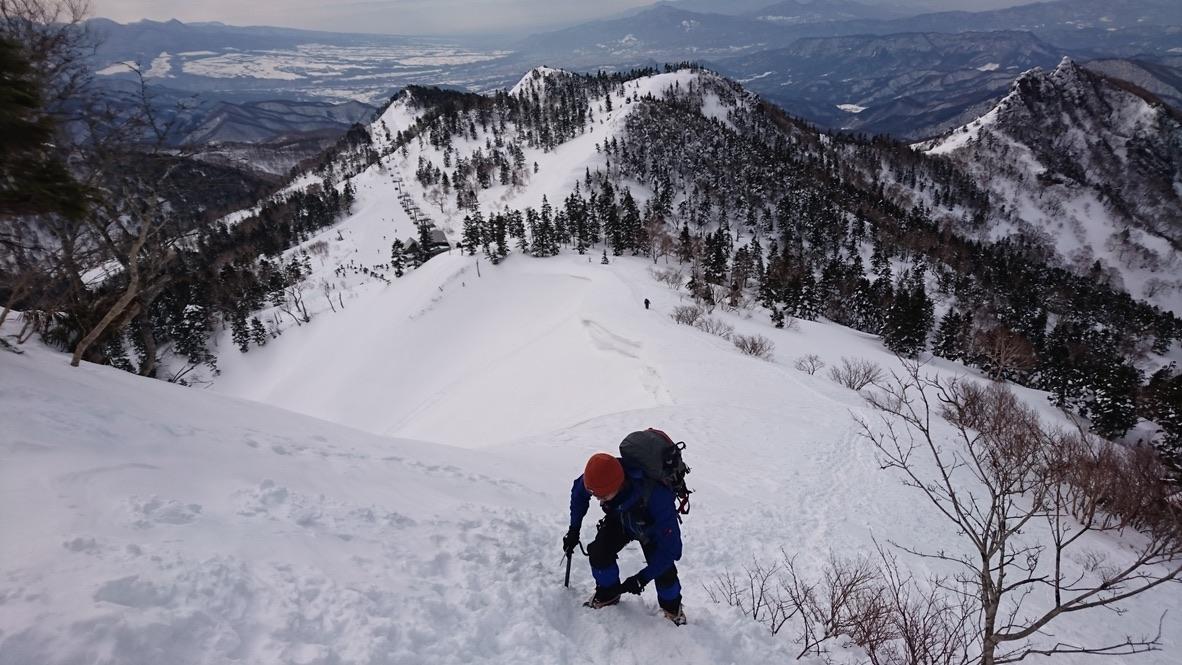 武尊山・川場スキー場から剣ヶ峰山に至る道3