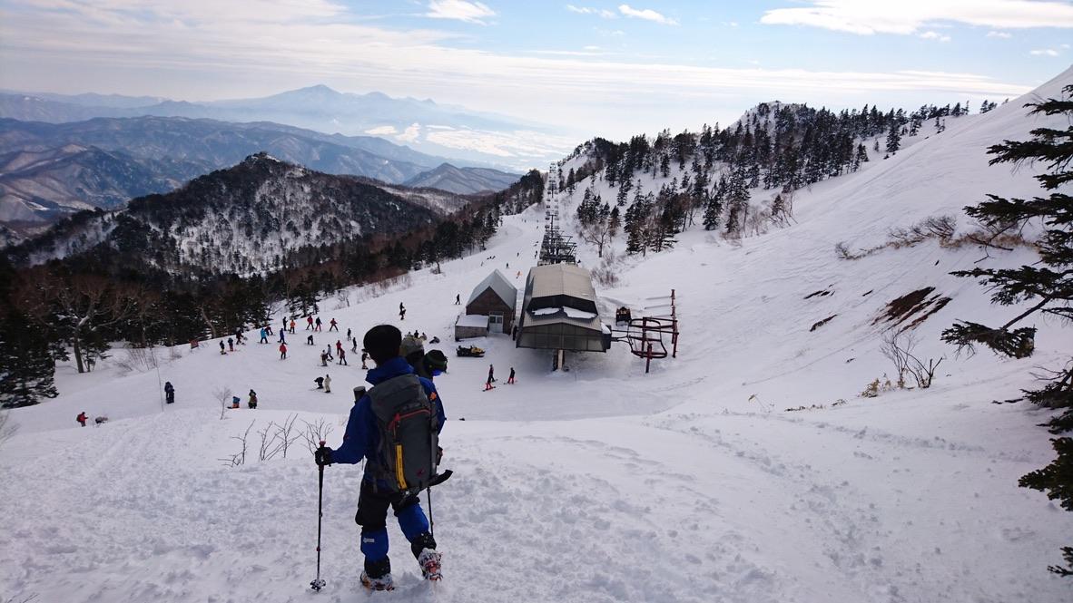 武尊山・川場スキー場のリフトが見えた!