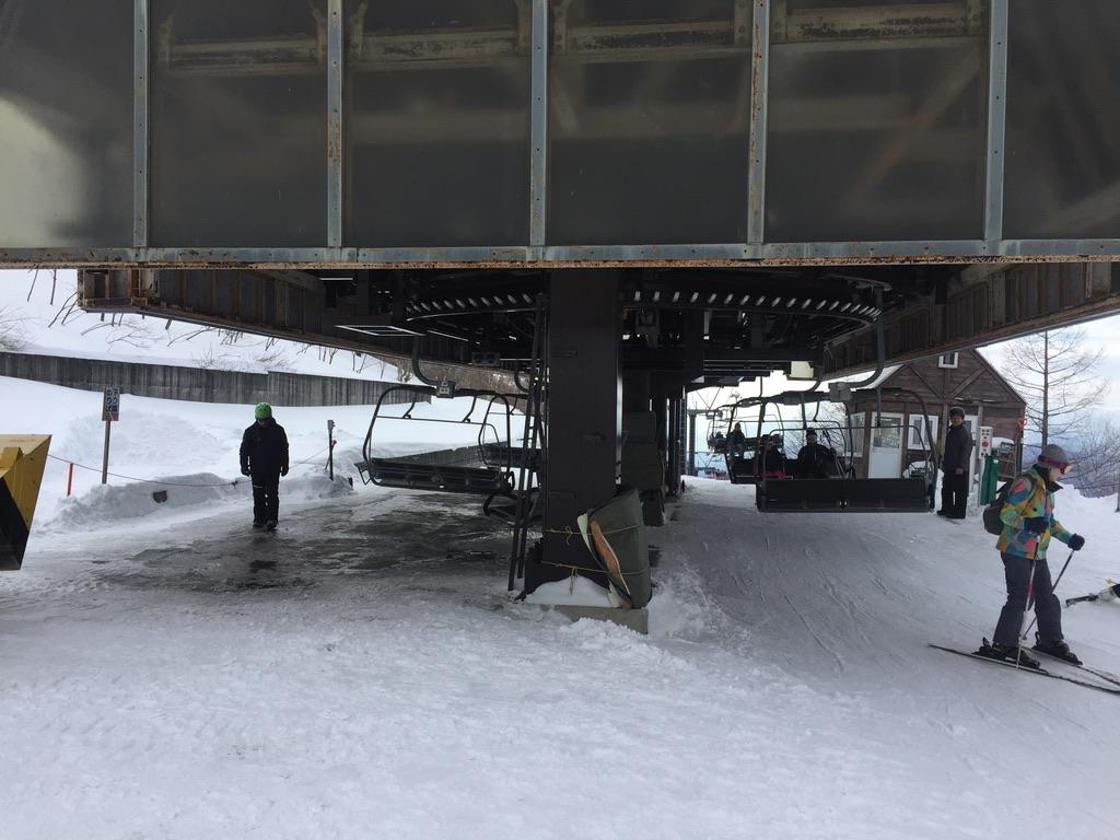 武尊山・川場スキー場のリフト乗り場