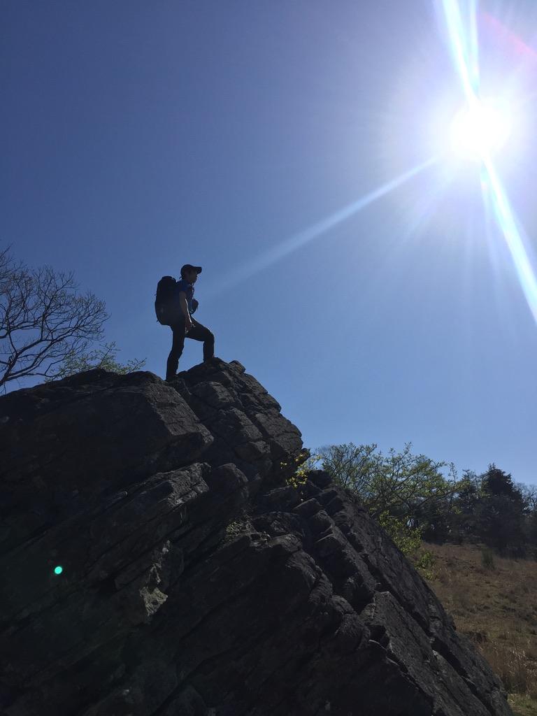 乾徳山・月見岩と相方