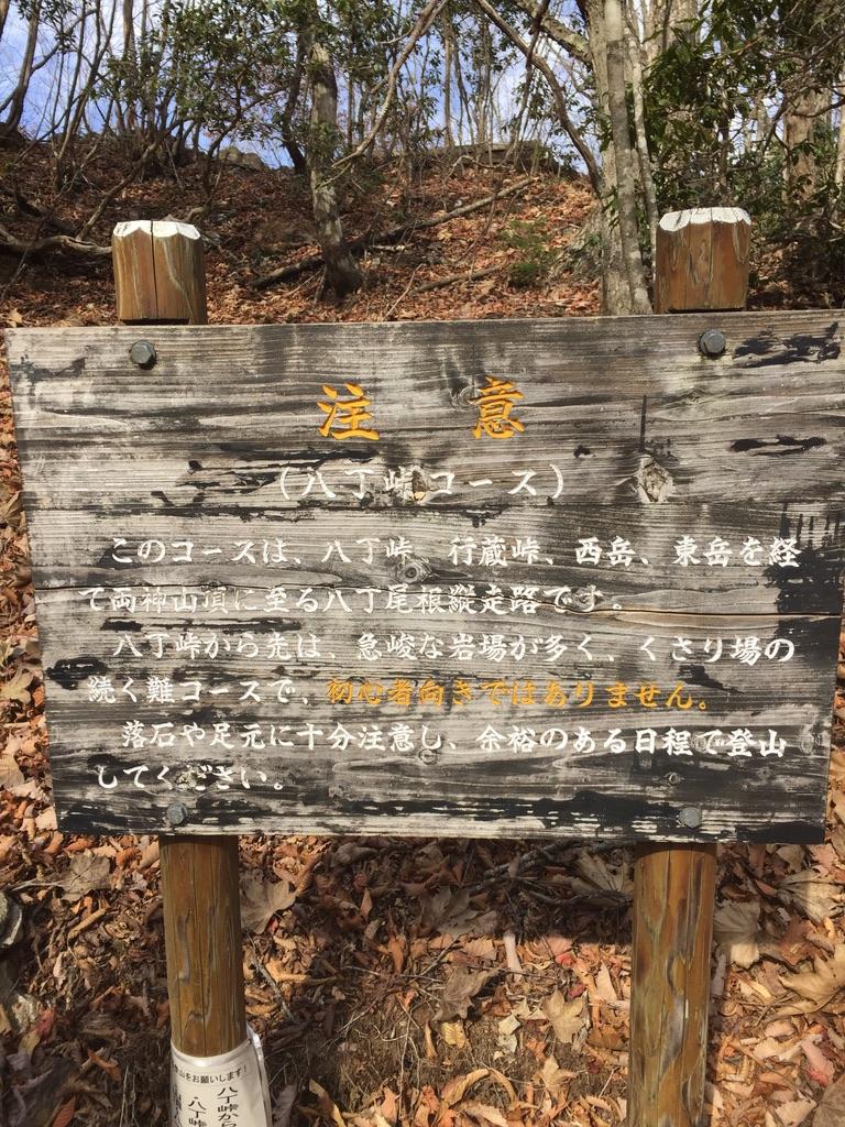 両神山・八丁峠は初心者お断り!アップで撮ってみました