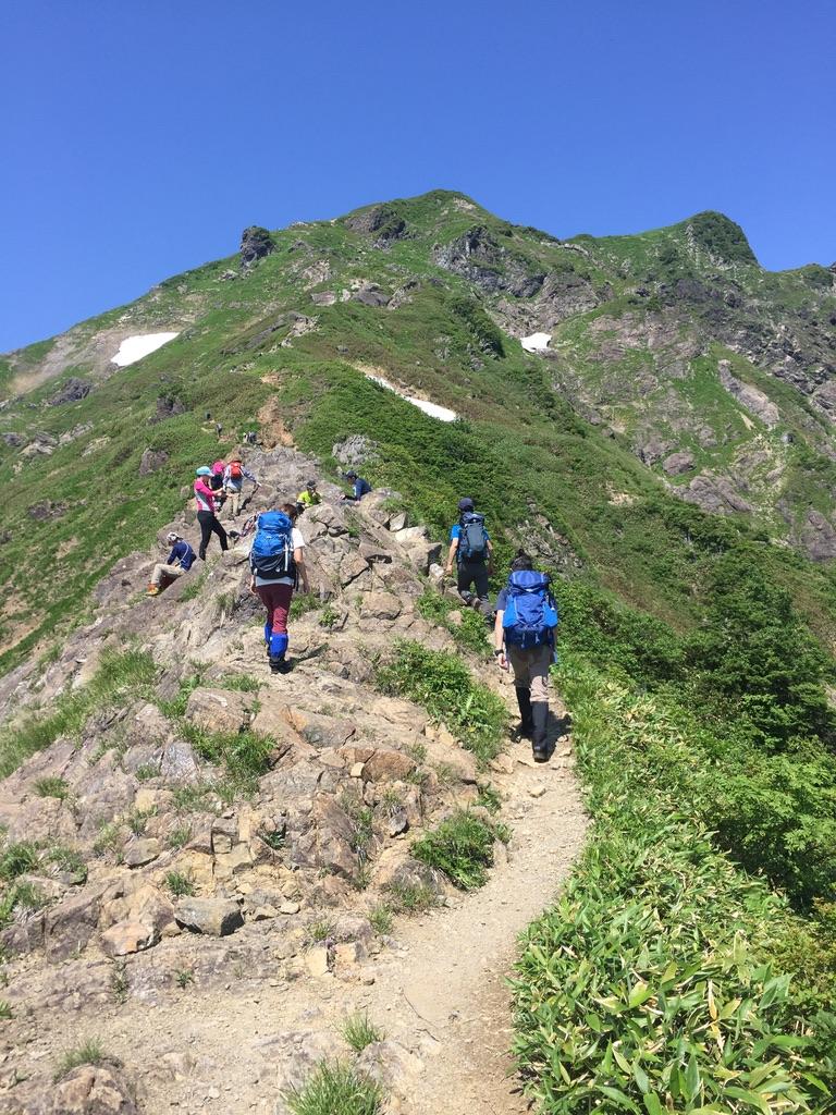 谷川岳・西黒尾根からオキノ耳・トマノ耳に向かって2・青レンジャーズ