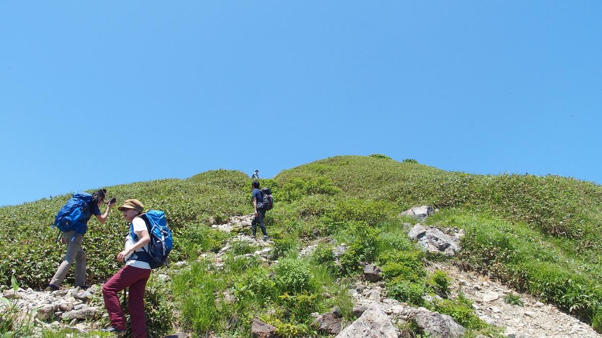 谷川岳・西黒尾根からオキノ耳・トマノ耳に向かって3