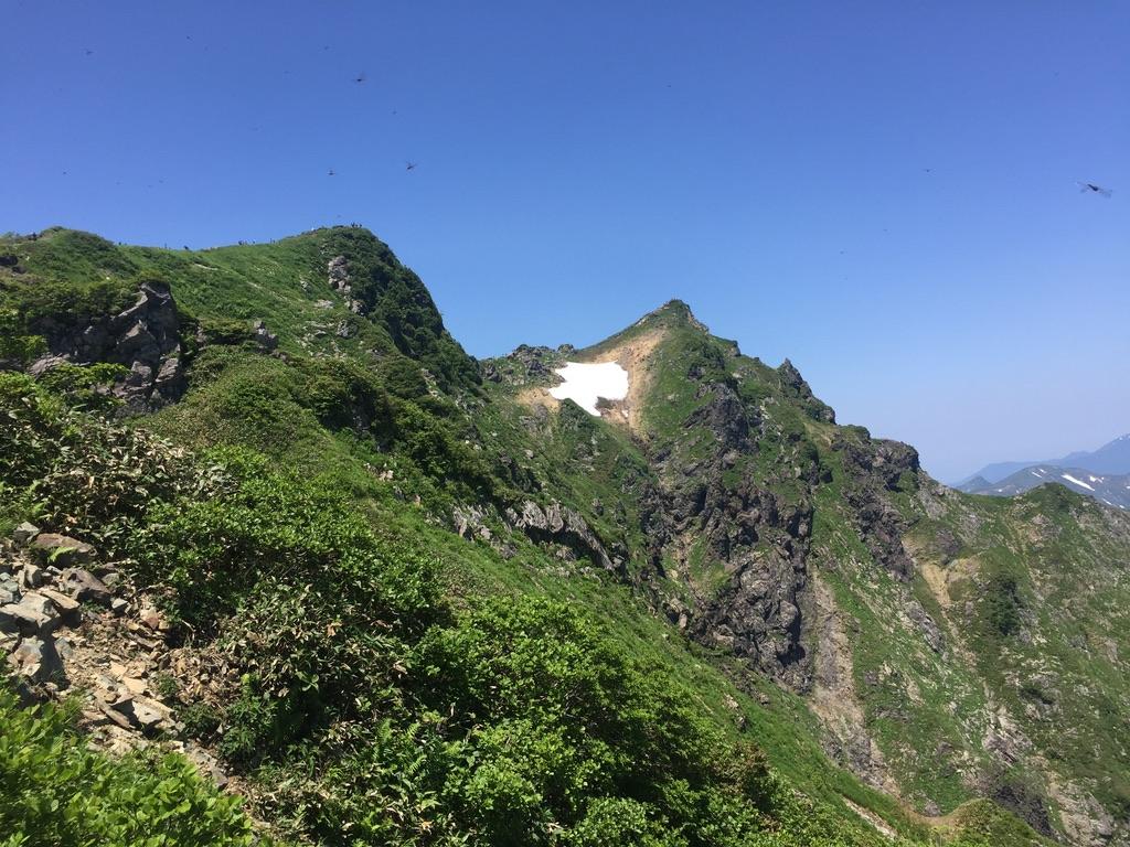 谷川岳・西黒尾根からオキノ耳・トマノ耳に向かって5