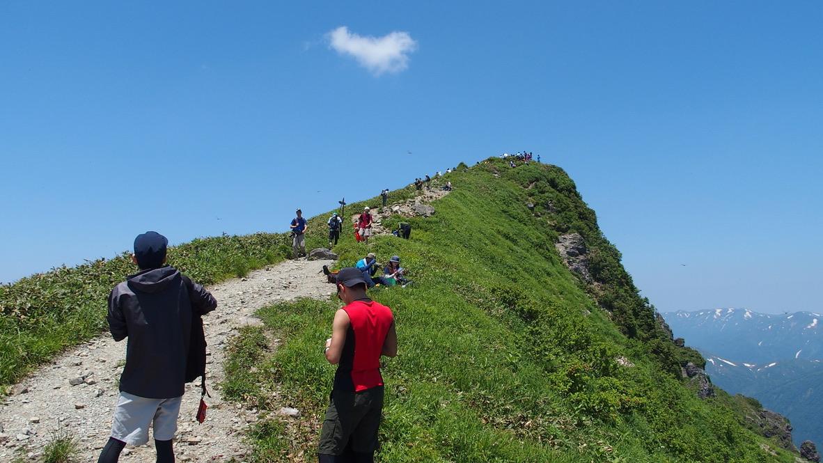 谷川岳・谷川岳山頂トマノ耳まで後ちょっと