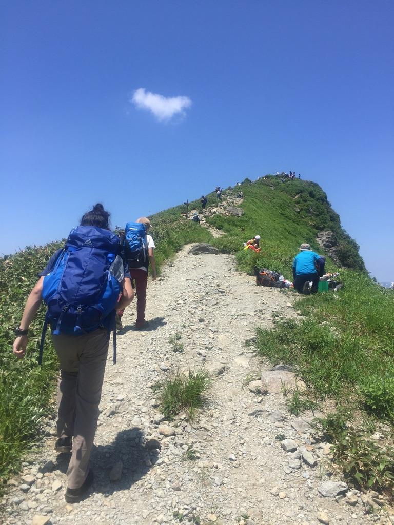 谷川岳・谷川岳山頂トマノ耳まで後ちょっと2