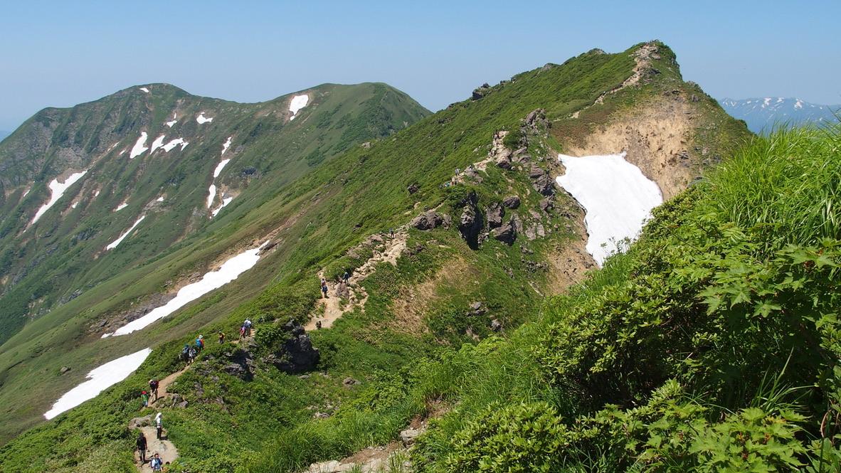 谷川岳・谷川岳山頂オキノ耳まで後ちょっと