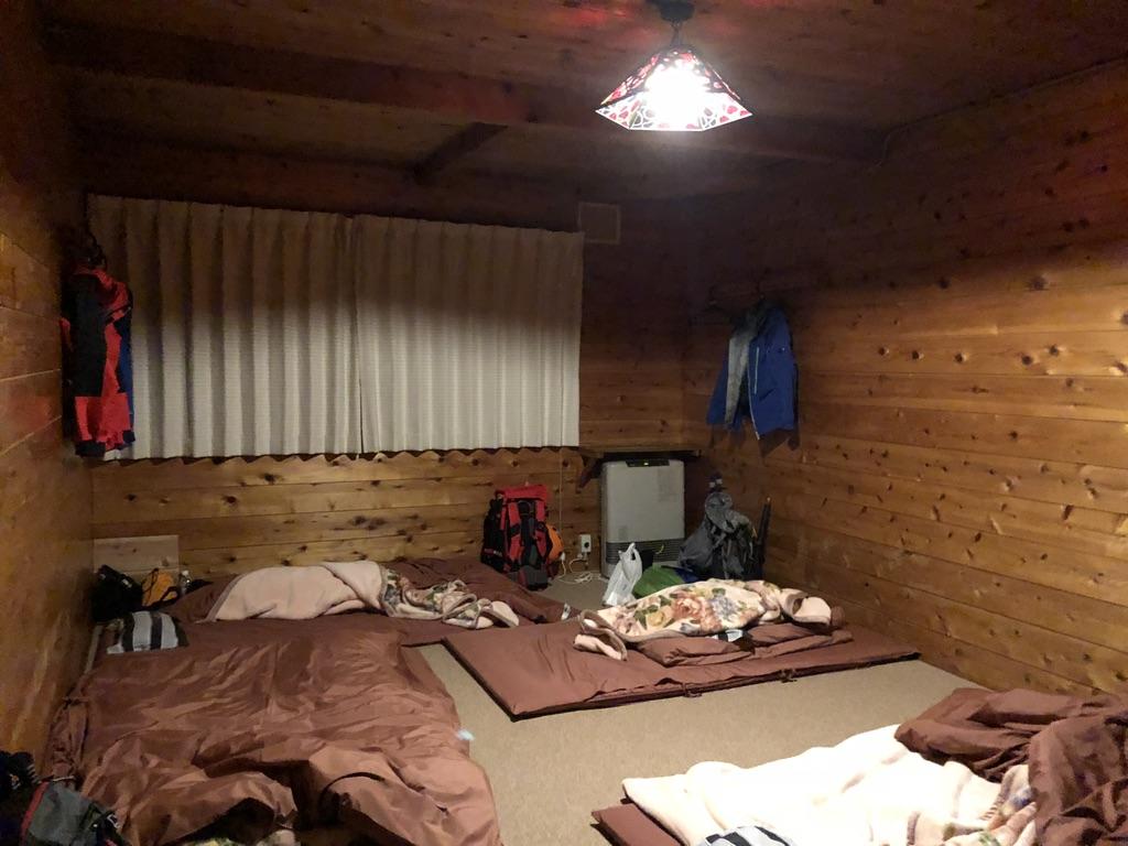 赤岳鉱泉の部屋・5人で一部屋でした