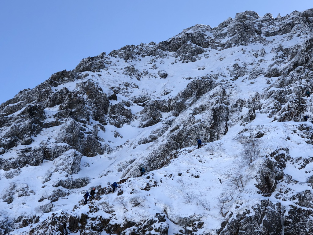 赤岳バリエーションルート