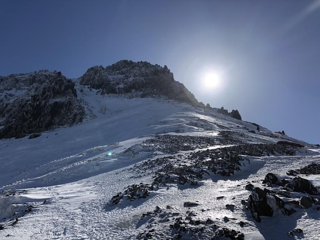赤岳頂上アタック・最後の登りスタートです