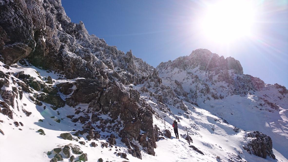 赤岳頂上アタック・相方ソニーXperiaで撮った写真