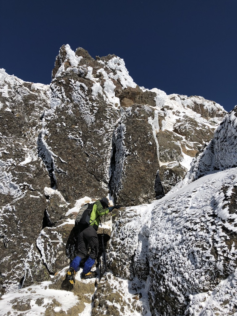 赤岳頂上アタック・最後のアタック
