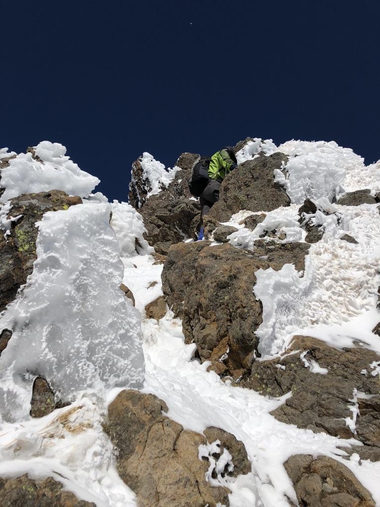赤岳頂上アタック・最後のアタック2