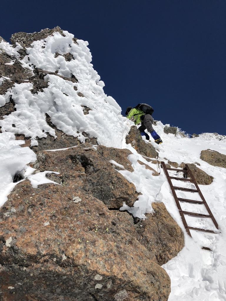 赤岳頂上アタック・最後のアタック3