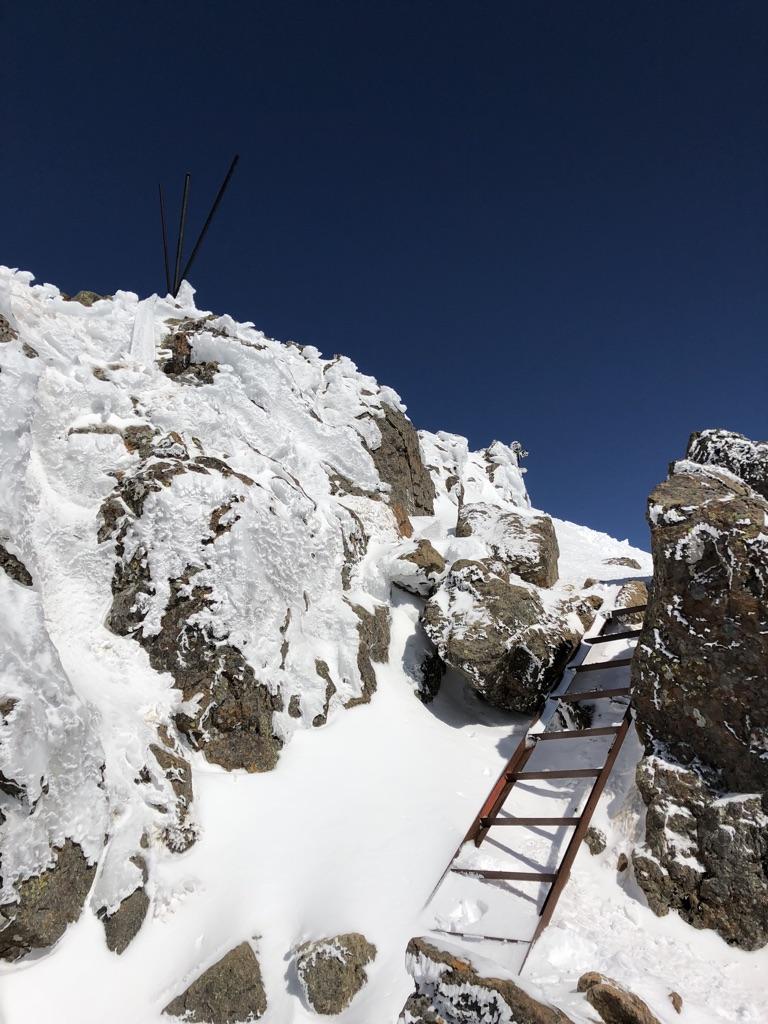 赤岳頂上アタック・最後のアタック4