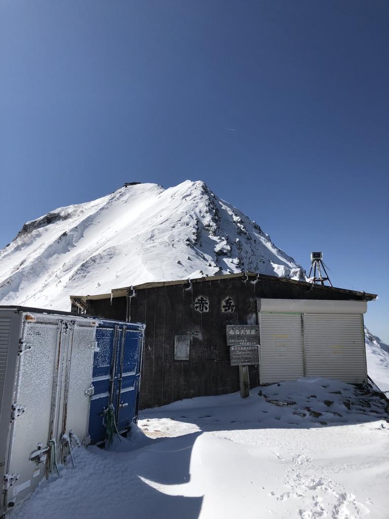 赤岳天望荘から赤岳、赤岳頂上山荘