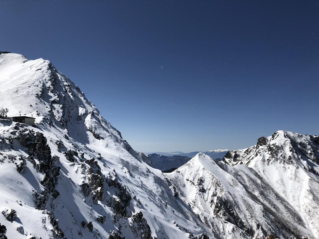雪山・赤岳、中岳、阿弥陀岳