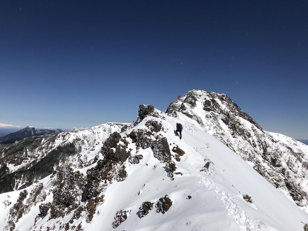 赤岳天望荘から地蔵の頭へ
