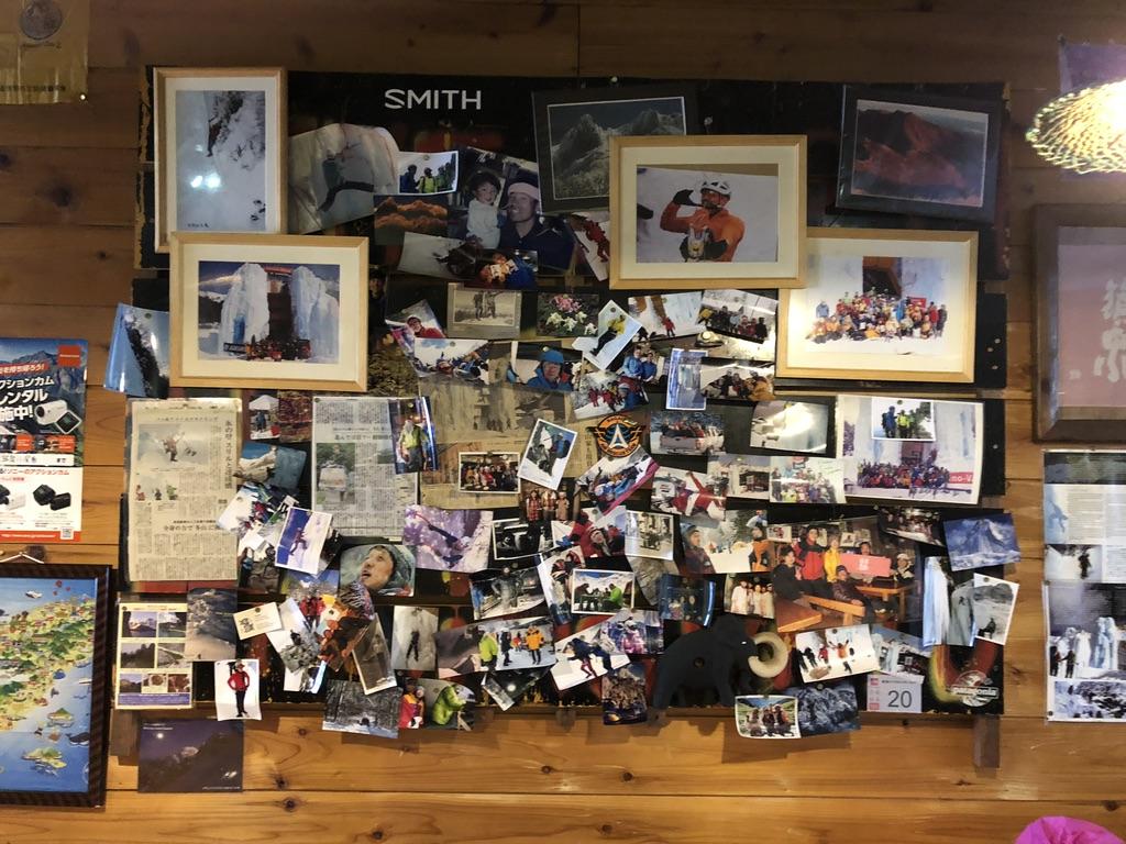 赤岳鉱泉・談話室の壁にかかった写真