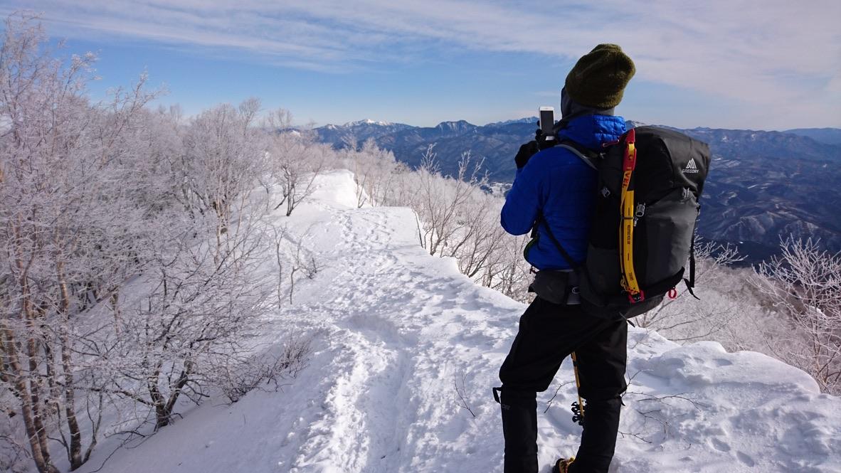 黒檜山の稜線